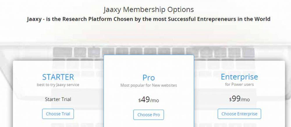 Jaaxy Membership Options