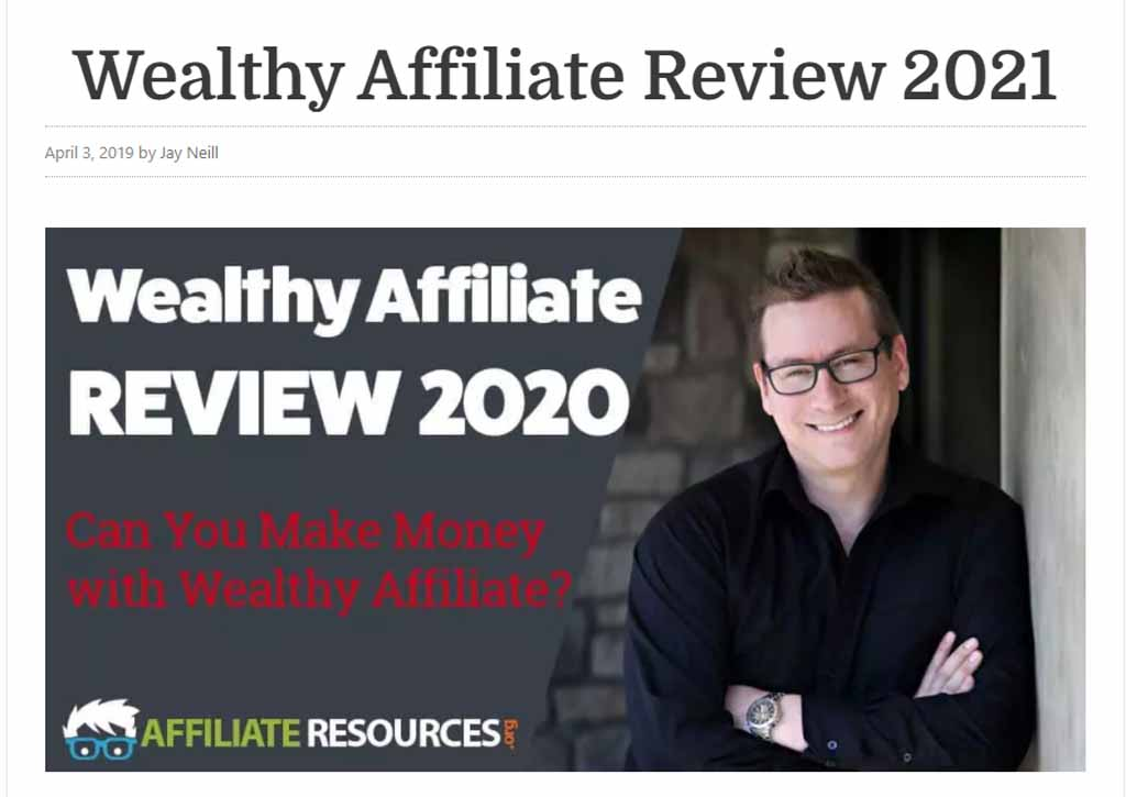 Jay Neill from Wealthy Affiliate Wealthy Affiliate Review
