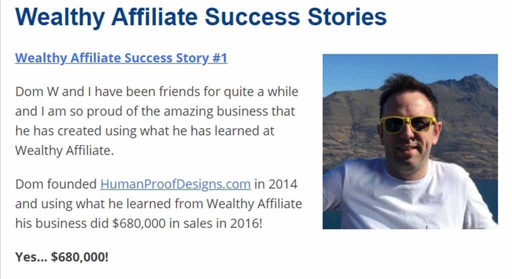 This guy Dom W. is the top WA success story I could find
