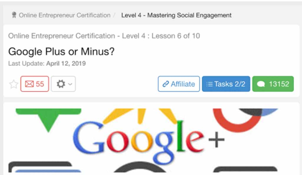 Why is Wealthy Affiliate still teaching Google +?
