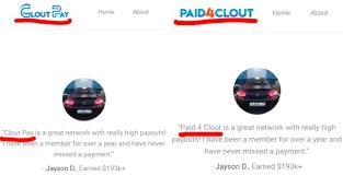 Fake testimonials clout pay