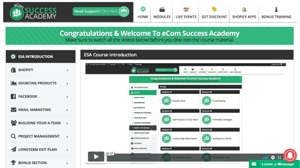 ecom success academy adrian morrison
