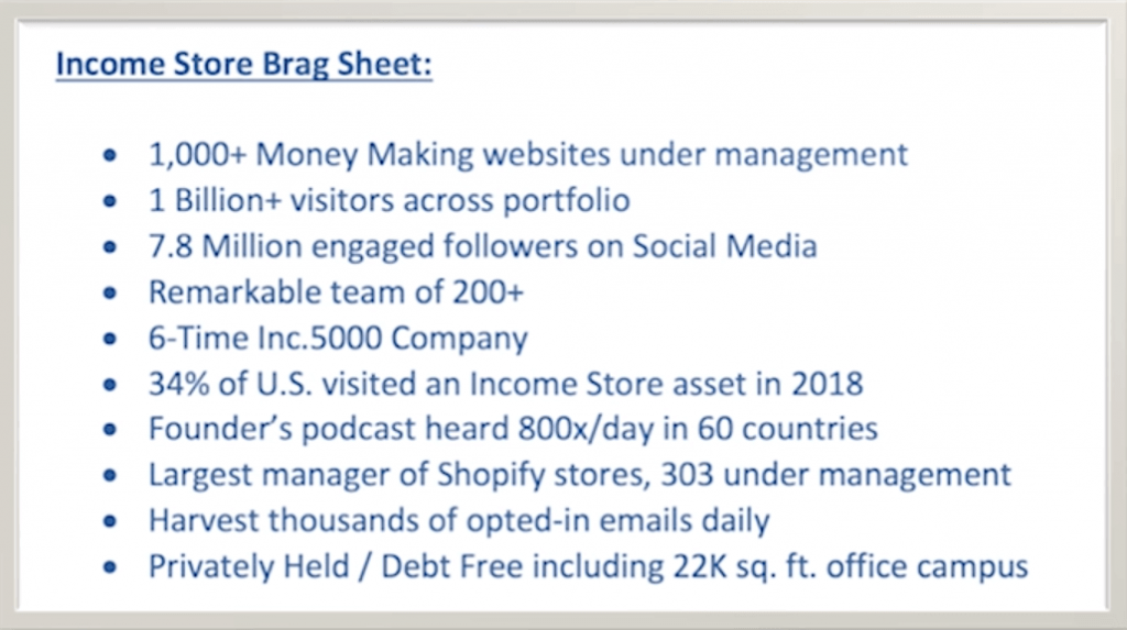the income store