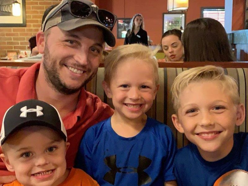 grant with his kids
